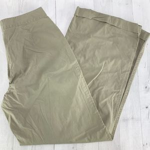 J CREW Army Green Front Pocket Wide Leg Cuff Pants